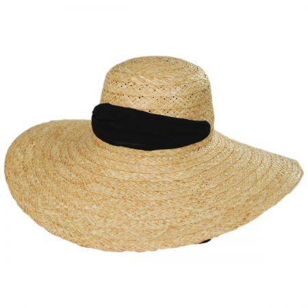 Jeanne Simmons Giardino Raffia Straw Swinger Hat