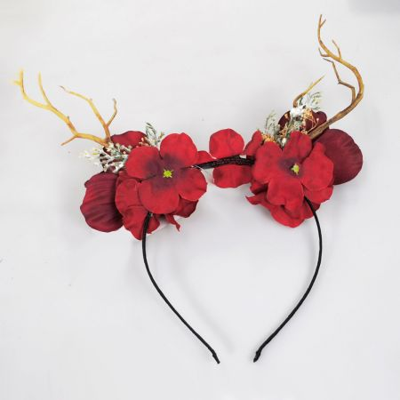 Red Poppy Headband alternate view 1