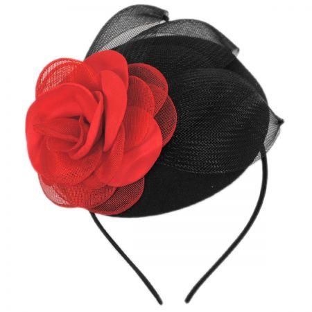 Jeanne Simmons Rouge Noir Fascinator