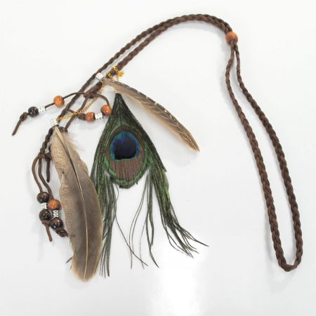 Jeanne Simmons Peacock Beaded Hat Band