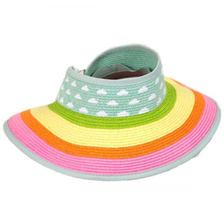 Jeanne Simmons Summer Fun Toyo Straw Blend Roll-Up Visor