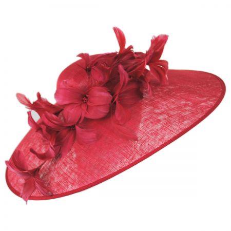 Kentucky Derby Feather Flower Big Brim Fascinator Headband