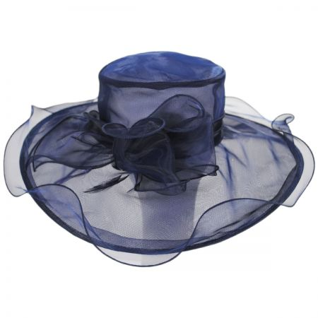 Kentucky Derby Annabelle Organza Boater Hat