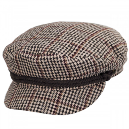 Brixton Hats Houndstooth Wool Blend Fiddler Cap