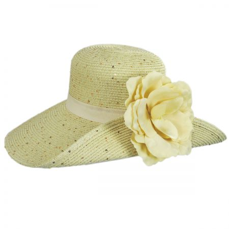 Blossom Toyo Straw Blend Off Face Hat alternate view 5