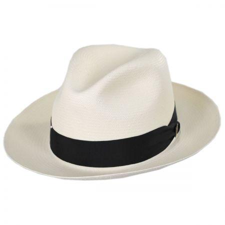 Dobbs Center Dent Shantung Straw Fedora Hat