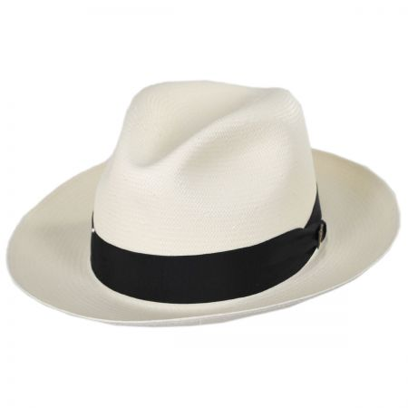 Dobbs Center Pinch Shantung Straw Fedora Hat
