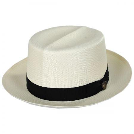 Dobbs Optimo Shantung Straw Fedora Hat