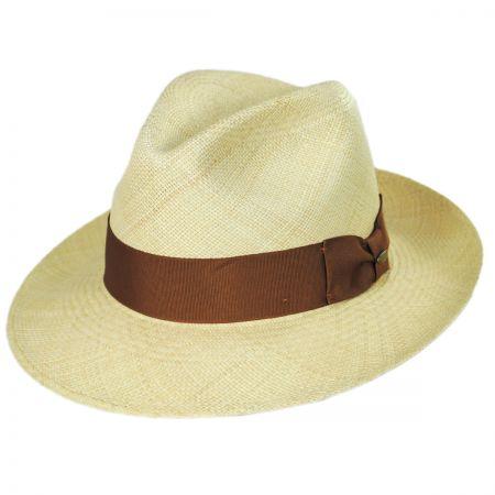 Scala Safari Grade 8 Panama Straw Fedora Hat