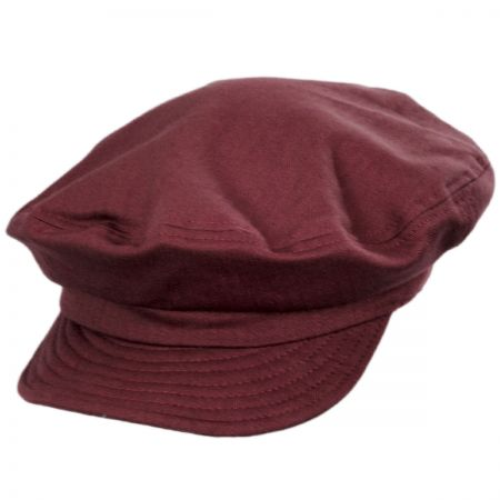 Unstructured Cotton Fiddler Cap alternate view 1