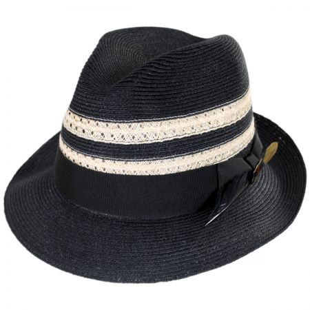 Highliner Hemp Straw Fedora Hat alternate view 9