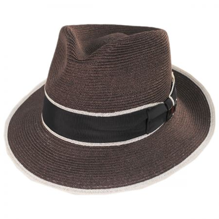 Gatsby Hemp Straw Fedora Hat alternate view 1