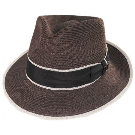 Gatsby Hemp Straw Fedora Hat alternate view 9