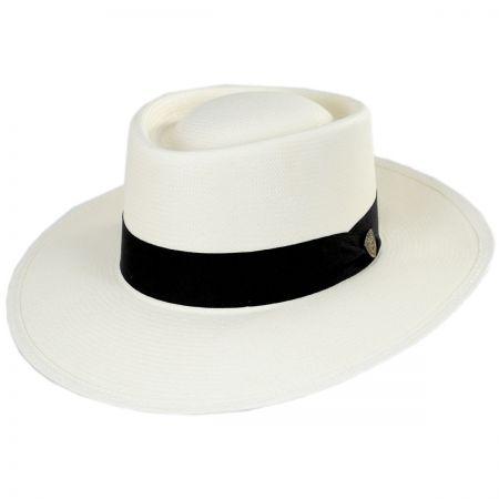 Dobbs St. Charles Shantung Straw Gambler Hat