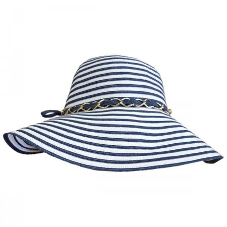 Beach Party Toyo and Ribbon Braid Floppy Swinger Hat alternate view 2