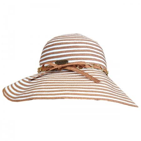 Beach Party Toyo and Ribbon Braid Floppy Swinger Hat alternate view 1