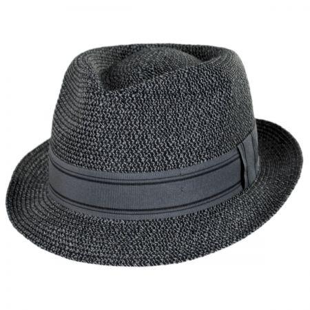 aad9e869cee8b2 Blue Straw Fedora at Village Hat Shop