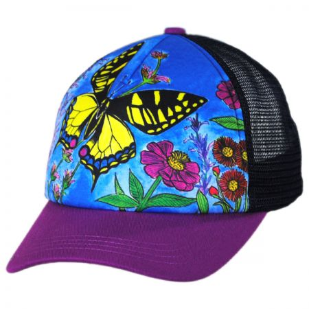 Sunday Afternoons Child's Butterfly Trucker Snapback Baseball Cap