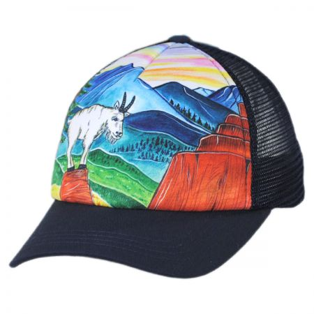 Sunday Afternoons Child's Mountain Goat Trucker Snapback Baseball Cap