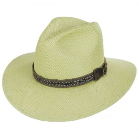 Cayuga Raindura Straw Fedora Hat