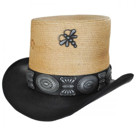 Charlie 1 Horse Coachella Mexican Palm Straw Top Hat