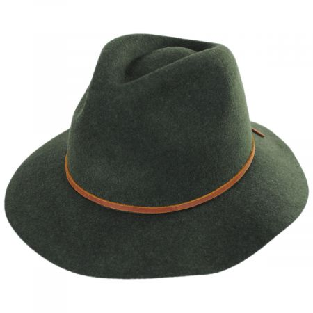 88c8e8e5a6a0c1 Brixton Hats Wesley Wool Felt Floppy Fedora Hat Casual Hats