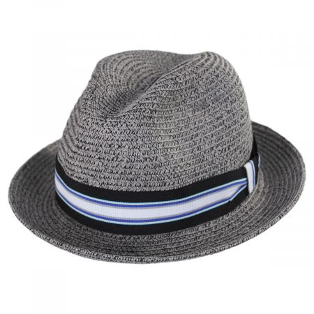 Salem Braided Toyo Straw Fedora Hat alternate view 3