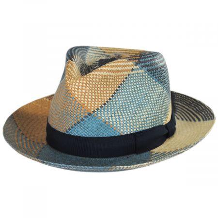 Giger Panama Straw Fedora Hat alternate view 5