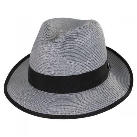 Latte Florentine Milan Straw Fedora Hat alternate view 1