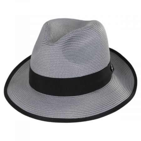 Latte Florentine Milan Straw Fedora Hat alternate view 9