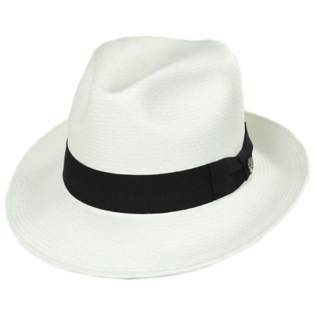 Bigalli Grade 8 Panama Straw Fedora Hat