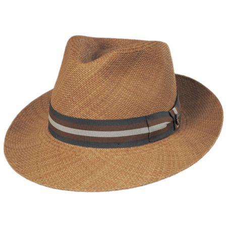 San Juliette Panama Straw Fedora Hat