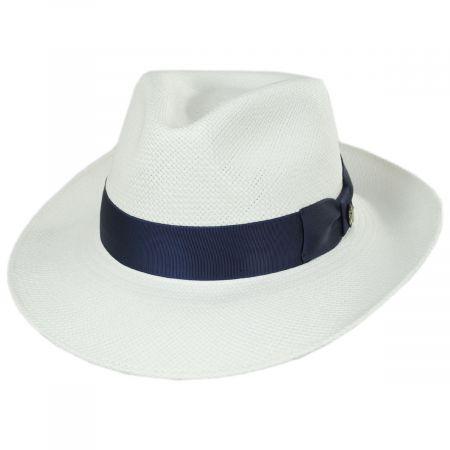 Bigalli Santorini Panama Straw Fedora Hat