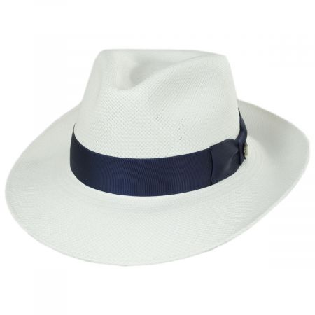 Santorini Panama Straw Fedora Hat alternate view 1