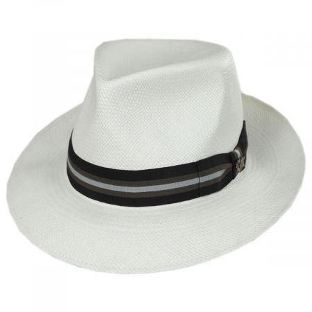 Bigalli Milagro Panama Straw Fedora Hat