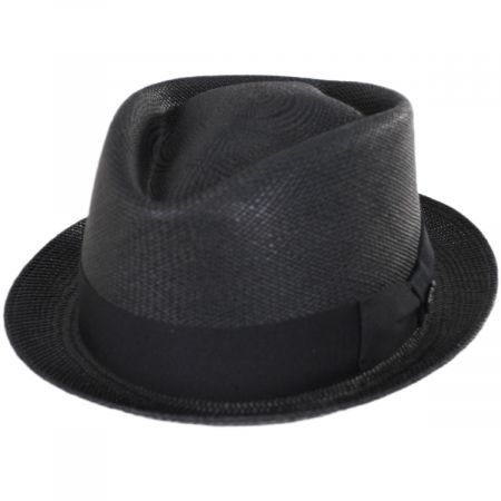 Diamond Panama Straw Fedora Hat alternate view 1