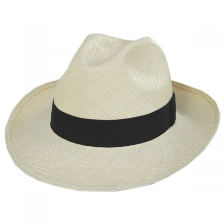 Bigalli San Jacinto Panama Straw Fedora Hat