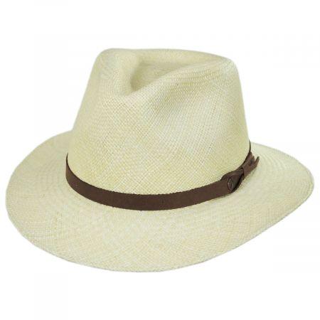 Ritzy Panama Straw Fedora Hat