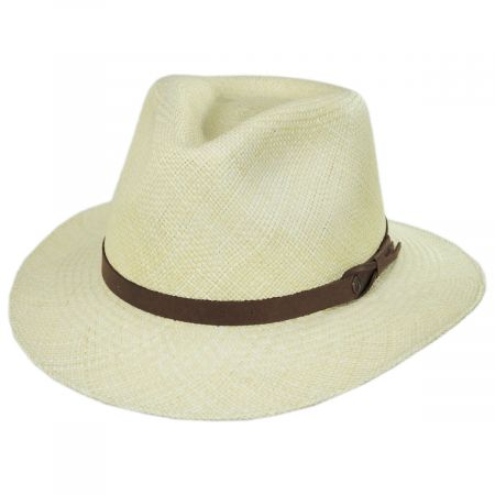 Bigalli Ritzy Panama Straw Fedora Hat