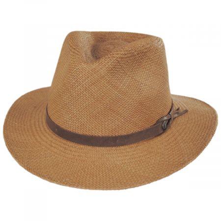 Ritzy Panama Straw Fedora Hat alternate view 13