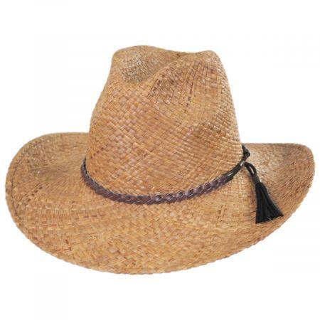 Brooklyn Hat Co Frisco Raffia Straw Aussie Western Hat