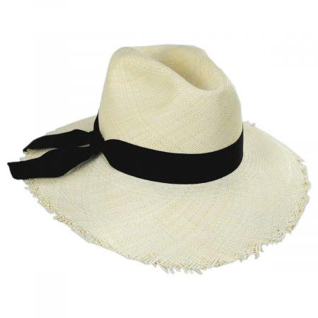 Bigalli Georgia Panama Straw Fedora Hat