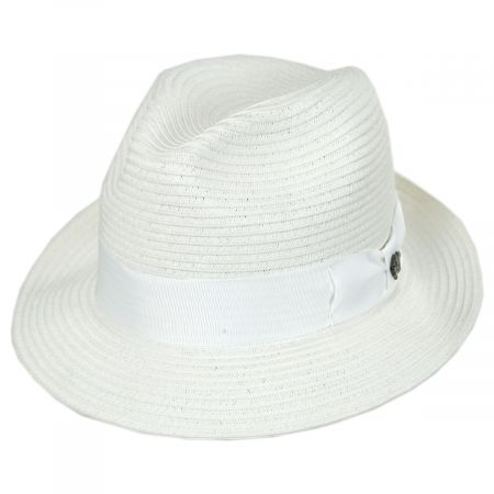 2fde068e4db4c Black Hat White Band Fedora at Village Hat Shop