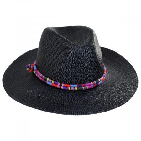 Bigalli Kara Panama Straw Fedora Hat