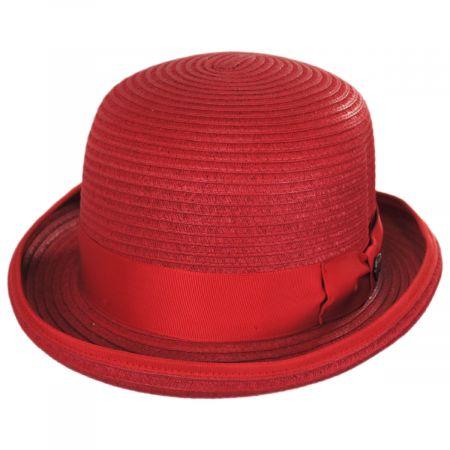 Bigalli Kanye Toyo Straw Bowler Hat