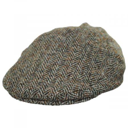 Stornoway Harris Tweed Wool Herringbone Flat Cap alternate view 1