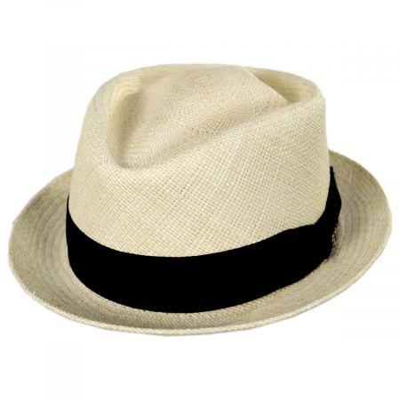 Diamond Panama Straw Fedora Hat