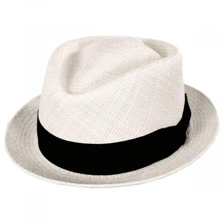 Bigalli Diamond Panama Straw Fedora Hat