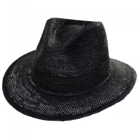 Messer Crochet Raffia Straw Fedora Hat alternate view 1