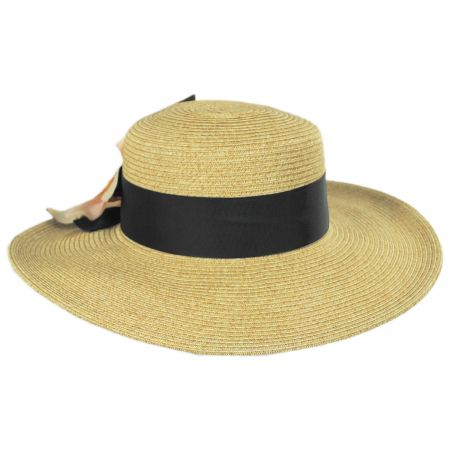 Water Lily Toyo Straw Boater Hat